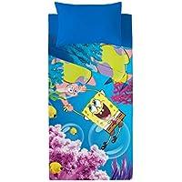 Euromoda Licencias Juego De Sábanas Bob Esponja Ocean Azul/Amarillo 180 x 270 + 145