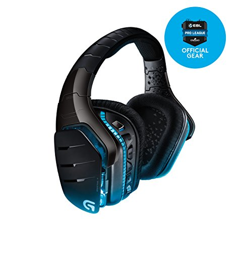 Logitech G933 Artemis Spectrum Kabelloses professionelles Gaming Kopfhörer (mit 7.1-Surround-Sound, 2,4-GHz-Verbindung, für PC, Xbox One und PS4) -