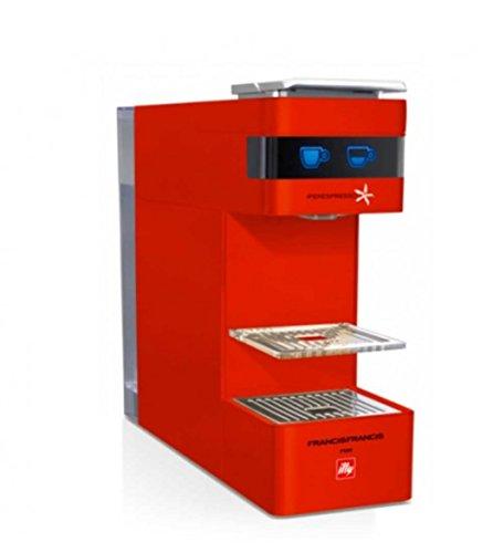 Máquina de café de cápsulas illy Modelo Y3Iperespresso) Color Rojo, ideal Sia para café espresso Che para café individuales