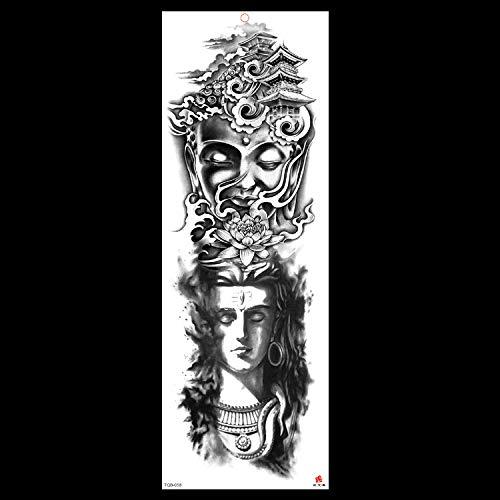 HXMAN Neue 48 X 17cm All-blume Arm Tattoo Aufkleber Horror Uhr Rose Cool Mädchen Temporäre Körper Farbe Wasser Transfer Gefälschte Tattoo Ärmel (2 Pack) AAA-001 (X Triple Halloween-kostüme)