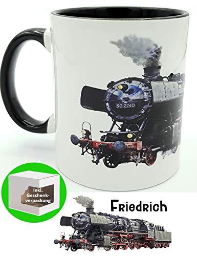 Kilala Kaffee-Tasse Eisenbahn Lokomotive Dampflok personalisierte Namenstasse