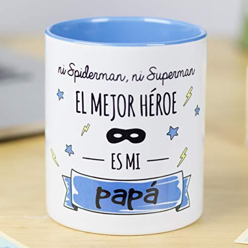 La Mente es Maravillosa - Taza con frase y dibujo divertido'Ni spiderman, ni...