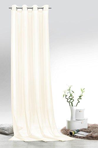 Fashion&joy typ418 - tenda a pannello in voile, con occhielli o passanti, 9 colori, trasparente, tessuto, naturale, Ösenschal hxb 245x140 cm