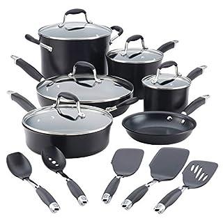 Anolon 84601 Cookware Set, Hard-Anodized_Aluminum, Black (B07F84DJM4)   Amazon price tracker / tracking, Amazon price history charts, Amazon price watches, Amazon price drop alerts