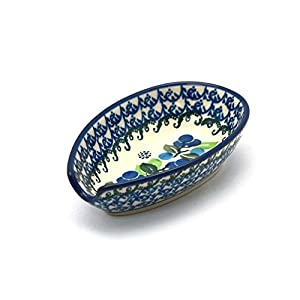 Polish Pottery Spoon Rest – Blue Berries