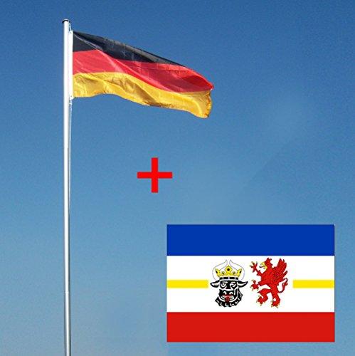 Wohnwerk! Flaggenmast 4m mit Deutschlandfahne und extra Fahne Ihrer Wahl! Fahnenmast (Mecklenburg-Vorpommern, 4 Meter)