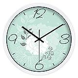 SX-ZZJ $ Wanduhren Wanduhr Nicht tickende Sweep Bewegung dekorative für Küche Wohnzimmer Badezimmer Schlafzimmer Büro Quarz Uhren & Wecker (Farbe : B, größe : 12inch)