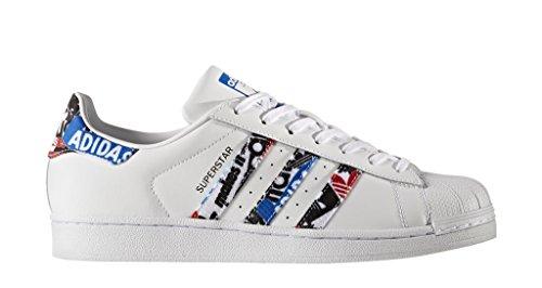adidas Superstar, Sneaker Uomo Bianco (Footwear White/blue/core Black)