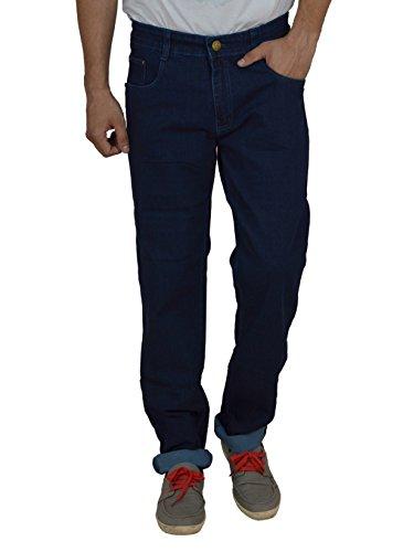 Studio Nexx Men's Denim Regular Fit Jeans (Dark Blue, Size - 34)  available at amazon for Rs.729