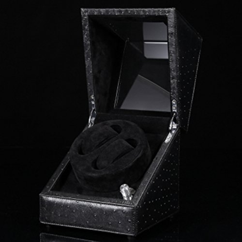 Y-YF Uhr Winder Auto Dual Watch Winders Leder Storage Display 2 Uhr Winder Case Automatische...
