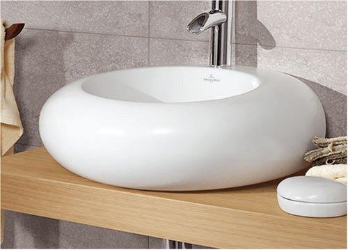 Pure² Villeroy & Boch Stone Waschtisch, 61 x 54 cm, weiß mit CeramicPlus