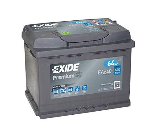 Batteria auto EXIDE EA640 64AH ampere 640A con polo positivo a dx