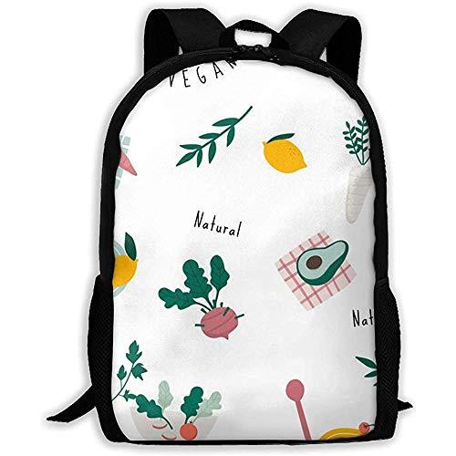 Schulranzen,Gesunde Vegane Natürliche Muster-Weiche Bequeme Kindertaschen Für Das Klettern, Das Das Reisen Wandert -
