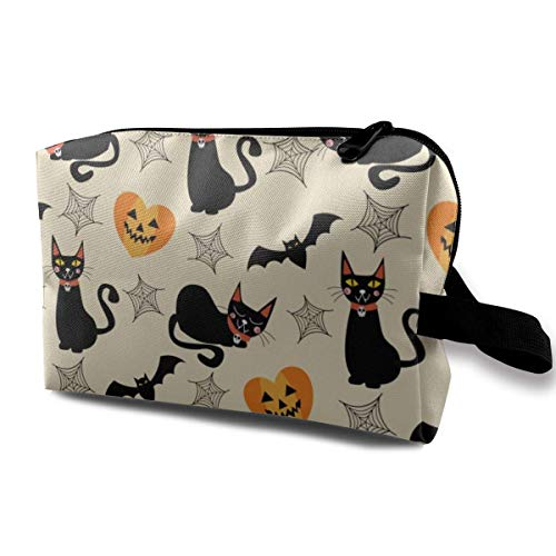 Reise-hängende Kosmetiktaschen Black Cat and Halloween Multi-Functional Toiletry Makeup Organizer travel makeup bag