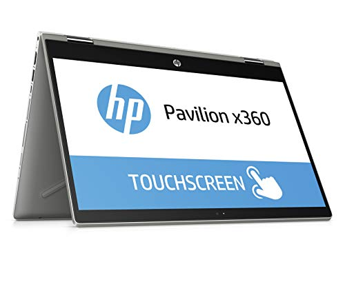 HP Pavilion x360 14-cd1005ng 35,5 cm (14 Zoll Full HD IPS Touch) Convertible Laptop (Intel Core i5-8265U, 8GB DDR4 RAM, 1TB HDD, 128GB SSD, Nvidia GeForce MX130 2GB, Windows 10 Home) silber
