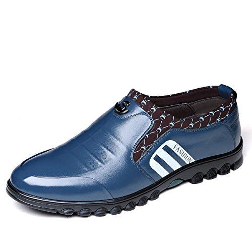 Scarpe Oxford Di Affari Di Cuoio Casuale Di Nuovo Modo Di Modo Degli Uomini  Blue
