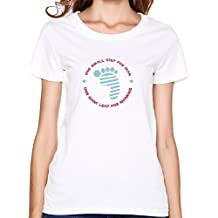 FIVE Miumine Women Neil Armstrong Tribute Po2c T-shirt,White T Shirt By HGiorgis