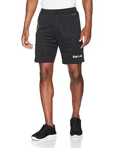 Kempa Curve Herren Shorts, schwarz/Gold, L