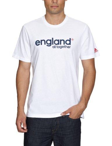 adidas Herren T-shirt England Graphic Tee, white/collegiate navy, M, X25742
