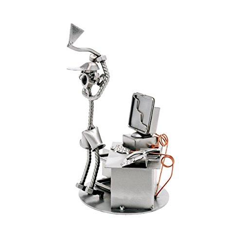 Computer Axt Schweissfigur Schraubenkunst Metallfigur Design Hinz & Kunst