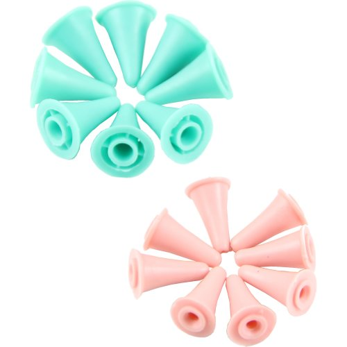 Estone Adiokabel, 16 Stück, Knit Stricknadeln Protectors Nummer 2 Größen für Rundnadeln Craft