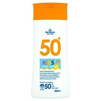 Morrisons 50+ – Loción solar para niños, 200 ml