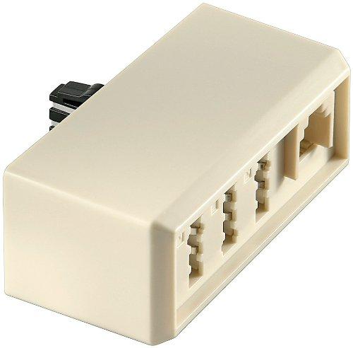 10er Set goobay TAE Adapter (Stecker F auf Kupplung NFN undKupplung RJ11 NFN) beige