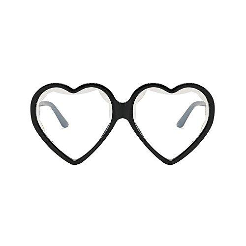 Dorical Vintage Sonnenbrille für Unisex/Damen Herren Süß Brille Herz Form Elegant Brillen Retro Hochwertige Brille PC Frame Brille Dekobrillen/Valentinstag Brille für Frauen Männer Sale