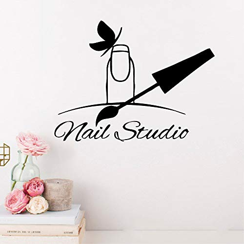 Wandaufkleber Nail Stuido Polish Nagelpflege-Salon-Fenster-Maniküre-Geschäfte