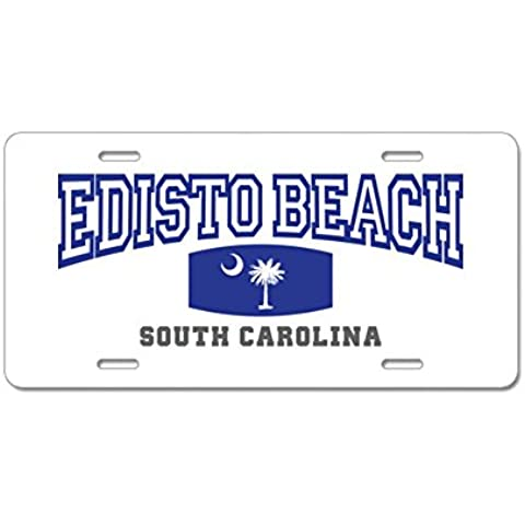 CafePress Edisto spiaggia Carolina del Sud; SC; Palma e stato FL Targa -