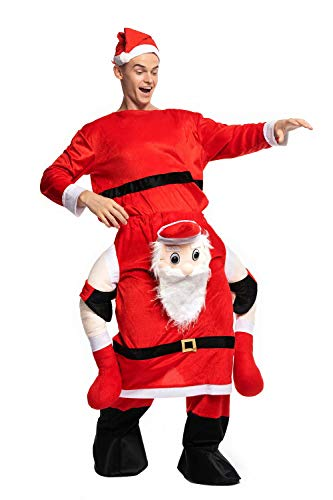 Carry Me Kostüm Unisex Weihnachten Lustig Fancy Dress Santa Schneemann Party Weihnachtsmann Kostüm Erwachsene für Weihnachten Karneval (Carry Me Kostüm Weihnachten)
