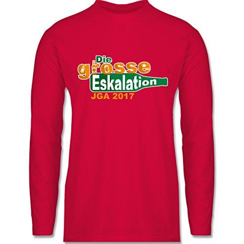 JGA Junggesellenabschied - Die große Eskalation - JGA 2017 - Longsleeve / langärmeliges T-Shirt für Herren Rot