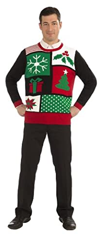 Forum Jolly Holiday Ugly Christmas Sweater Adult Select Size: