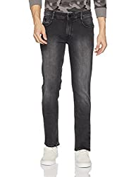 John Players Mens Slim Fit Jeans (ZCMWJNA170025003_Jet Black_32W x 34L)