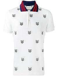 Gucci Homme 475118X5T759018 Blanc Coton Polo