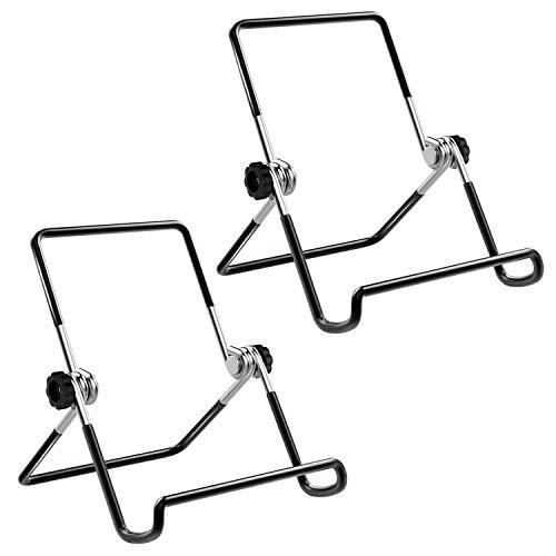 """MoKo Tabletas Soporte Universal - [ 2 PZS ] Portátil Adjustable Stand Cradle Metálico para (Compatible 9-12.9"""") Compatible con New iPad Air 3rd Gen,iPad Pro 11 2018/10.5/9.7 - Negro"""