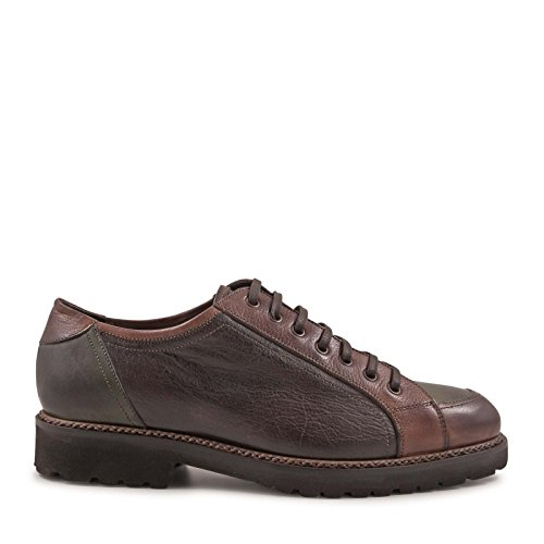 LEONARDO SHOES STRINGATE UOMO 4780BOTTOLATO MARRONE