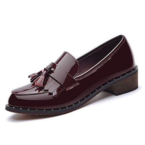XTIAN , chaussons d'intérieur femme Wine Red Weinrot