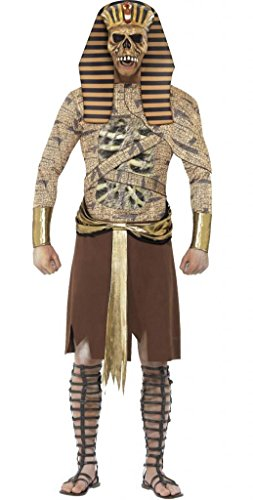 Mens Zombie Pharaoh Pharoah Ancient Egyptian Mummy Mummified Monster Halloween Fancy Dress Costume Outfit M-L (Medium)