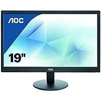 """AOC E970SWN - Monitor de 18,5"""" (resolución 1366 x 768 pixels, tecnología WLED, contraste 700:1, 5 ms, VGA), color negro"""