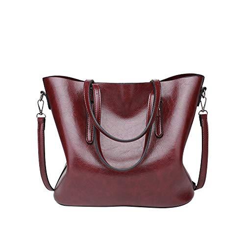 TianWlio Handtasche Damen Top Griff Satchel Handtaschen Schultertasche Bote Tote Taschengeldbeutel Wind rot