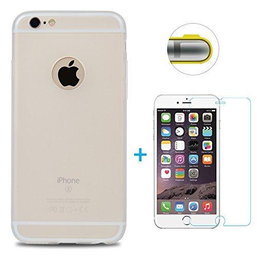 79abd65b2b6 Funda iPhone 6, iPhone 6s Carcasa Silicona Gel Mate + Vidrio ...