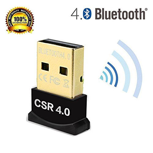hemara Universal Slim Bluetooth Adapter Dongle Mini BT 4.0 USB 2.0 Wireless Konverter für PC Plug-Play mit Windows 10/8.1/8/7/XP, Vista