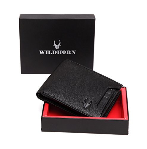 WildHorn Black Genuine Leather Wallet 015