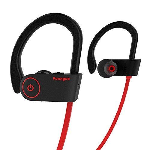 Bluetooth Kopfhörer HolyHigh Yuanguo2 Best Wireless Sport Kopfhörer mit einem IPX7 Mikrofon/wasserfeste HD Steoreo Kopfhörer fürs Fitnesstudio/Geräusch unterdrückendes Headset ...
