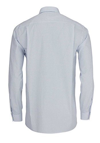 ETERNA Langarm Hemd COMFORT FIT bedruckt hellblau/weiss