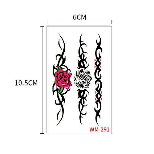 adgkitb Tattoo Aufkleber Kreative koreanische Art unabhängige Hirschpflaumenblume Tattoo 34 6x10.5cm