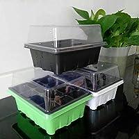HEREB Bandeja Semillero Kit de 12 Celdas Bandeja de GerminacióN de JardineríA Kit de Cultivo de Inicio de Semillas Bandejas de PláNtulas-Semilleros de Germinacion