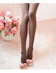 &zhou Slim a rayas medias medias calcetines en moda otoño e invierno , coffee , 1