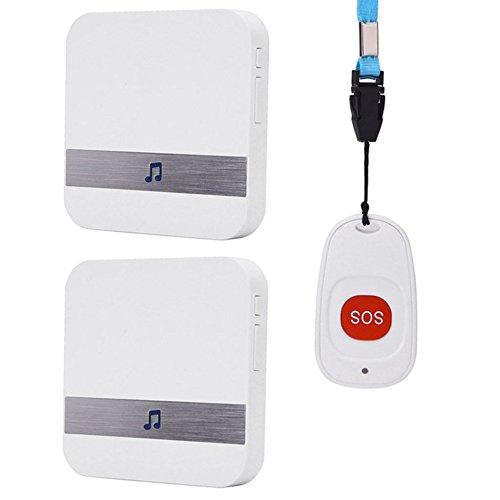 SWJ-doorbells Alarmas De Advertencia De SUNYAN Máquina De Llamada Mayor Paciente Remoto Inalámbrico Control Remoto Remoto Un Botón Timbre De Llamada De Emergencia